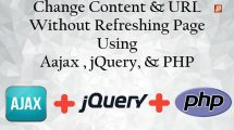 change content and URL without refreshing page