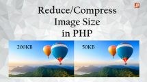 compress images in php