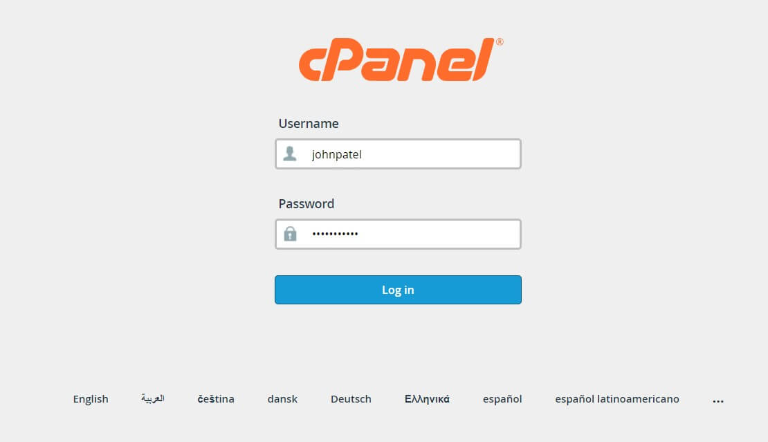 Login to your Cpanel