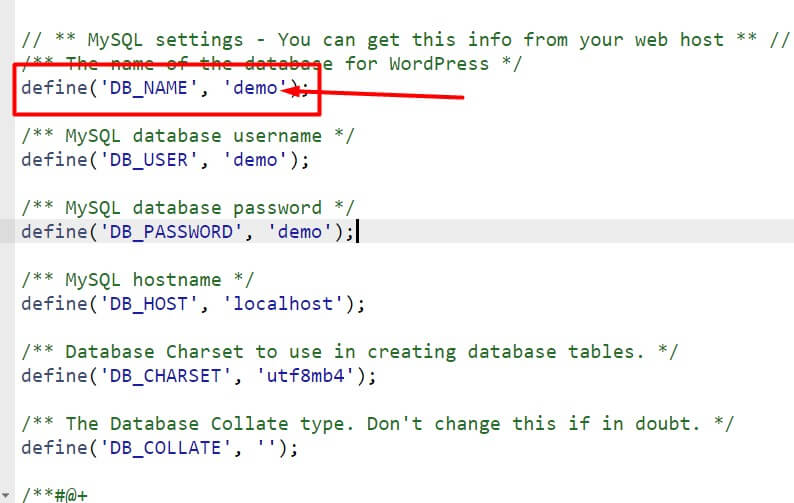 Find your database name step-6