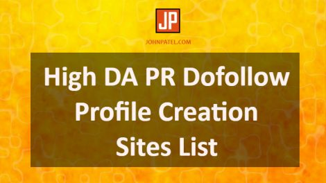 High DA PR Dofollow Profile Creation Sites List