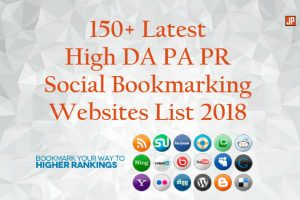 Latest High DA PA PR Social Bookmarking Websites List