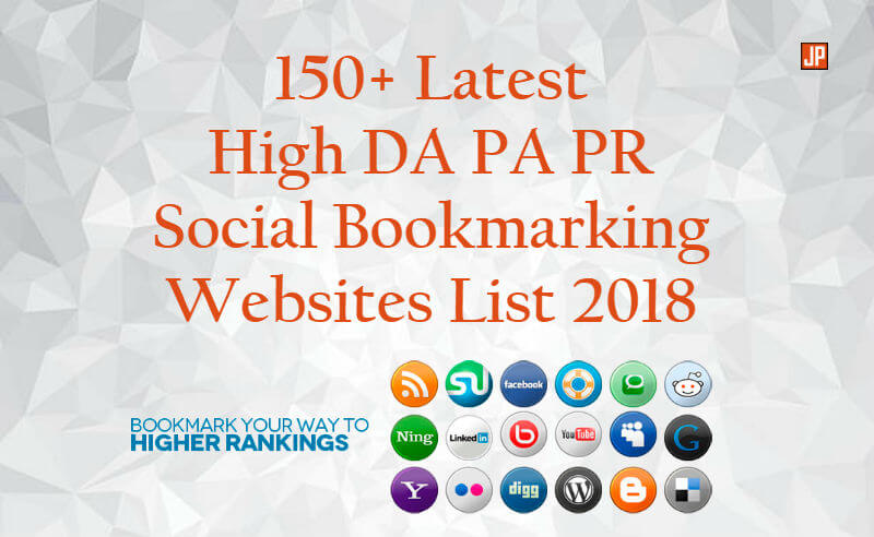 150+ Latest High DA PA PR Social Bookmarking Websites List 2019