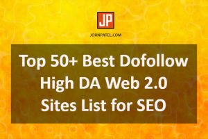 Dofollow High DA Web 2.0 Sites List