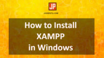How to Install XAMPP in Windows