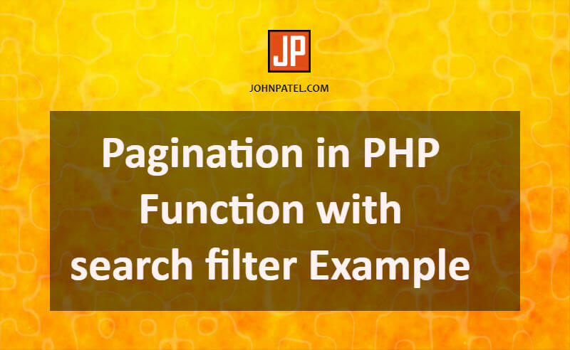 Pagination in PHP