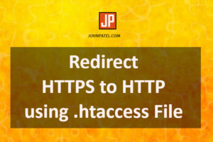 Redirect HTTPS to HTTP