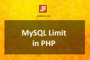 MySQL Limit in php
