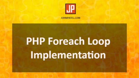PHP Foreach Loop Implementation
